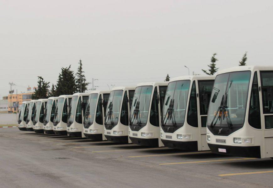 موكب تسليم عدد من الحافلات لفائدة شركة نقل تونس