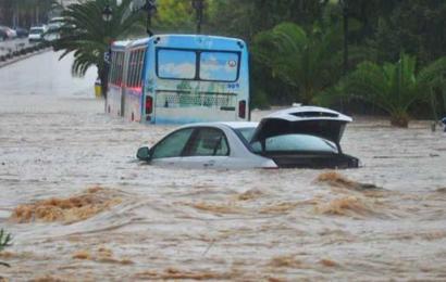 الجزائر: إثر تهاطل الأمطار…تبسّة الحدودية مع تونس تغرق