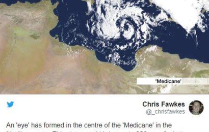 إعصار في البحر المتوسط تبلغ أمواجه 11 مترا