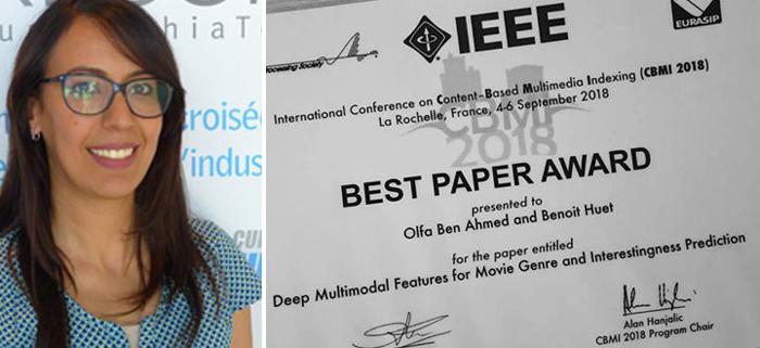 ألفة بن أحمد تحرز على جائزة أفضل مقال بحث علمي