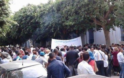المعلمون النواب يحتجون أمام مقر وزارة التربية ويهددون بمقاطعة العودة المدرسية