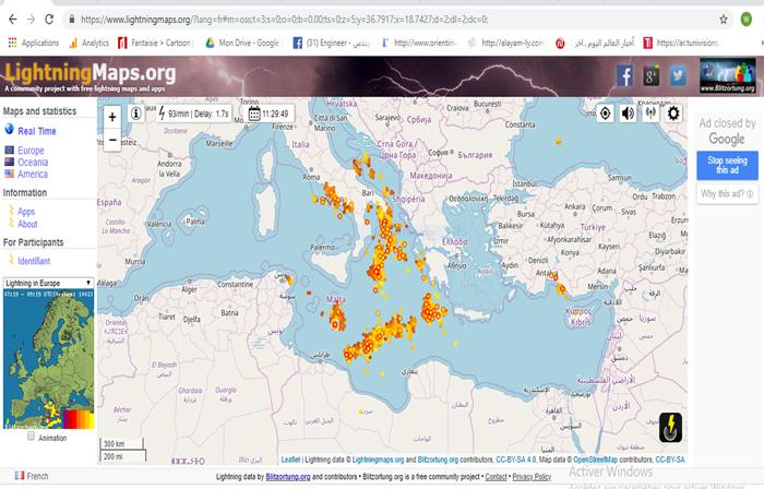 التوقعات الجوية حسب المعهد الوطني للرصد الجوي