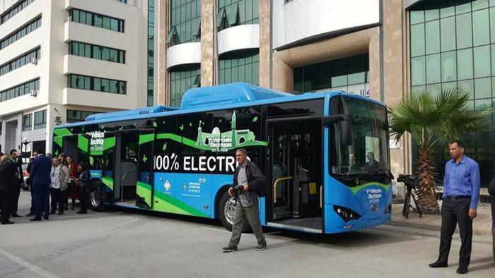 تونس أوّل حافلة  تعمل بالطاقة الكهربائية