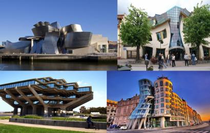 اشكال و مباني غريبة وتصاميم جديدة و مختلفة و أساليب غامضة