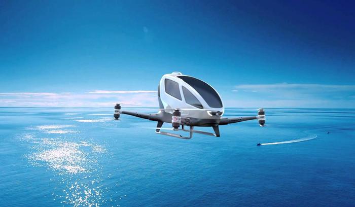 """إستمتع بأحدث إبتكارات التكنولوجيا الجديدة مع   """"تاكسي طائر بدون قائد"""""""