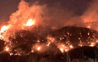 سلسلة من الحرائق تجتاح لبنان
