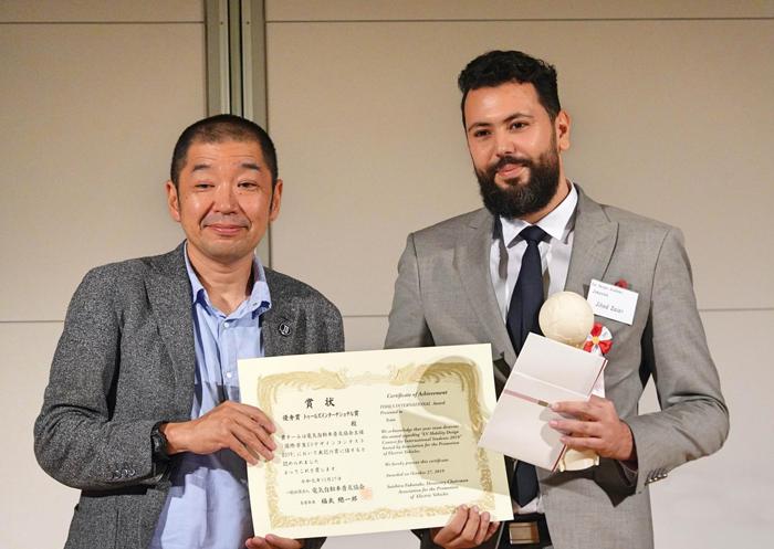 جهاد زاير شاب تونسي يفوز بالمسابقة العالمية لتصميم السيارات الاكترونية باليابان