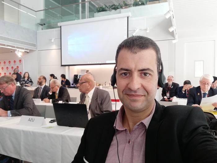 محمد أمين الأندلسي عضو في المكتب التنفيذي لاتحاد المهندسين العرب